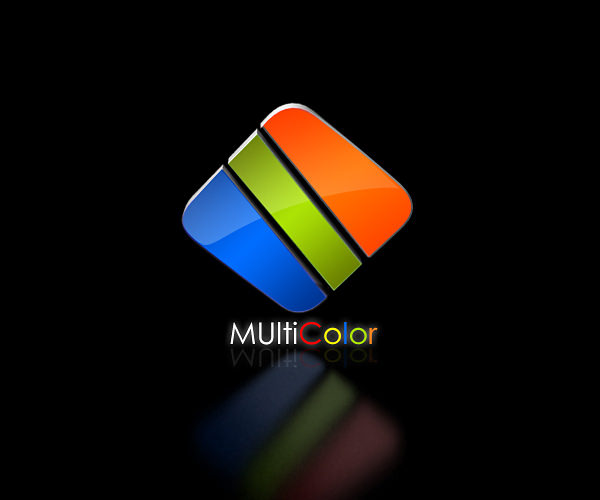 Multicolor Square Logo Design For Free