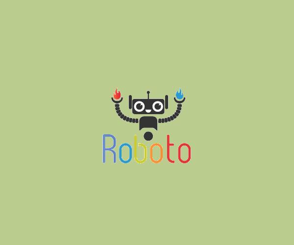 Multicoloured Man Robot Logo For Free