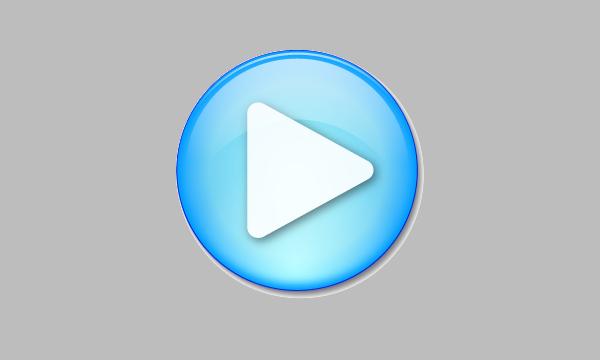 Multimedia Blue Arrow Button
