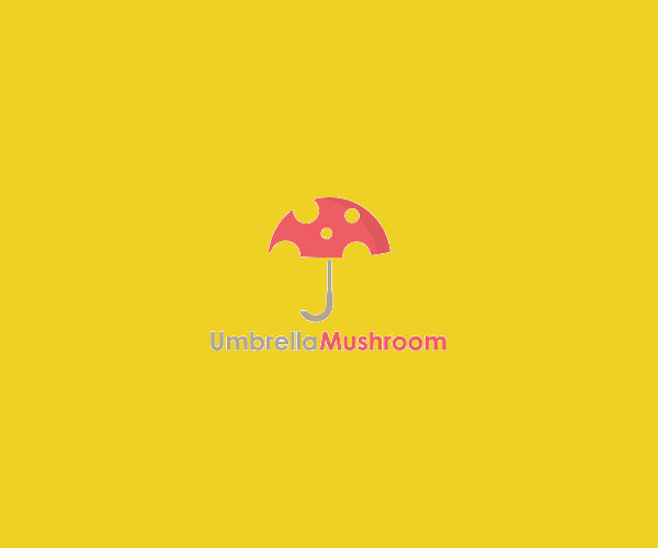 Mushroom Umbrella Logo Design For Free