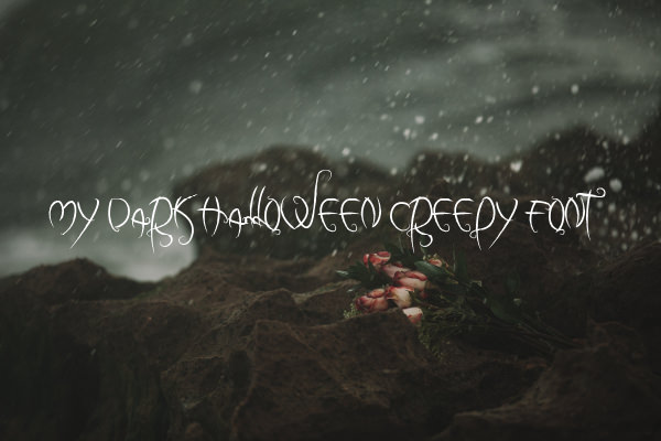 My Dark Halloween Creepy Font