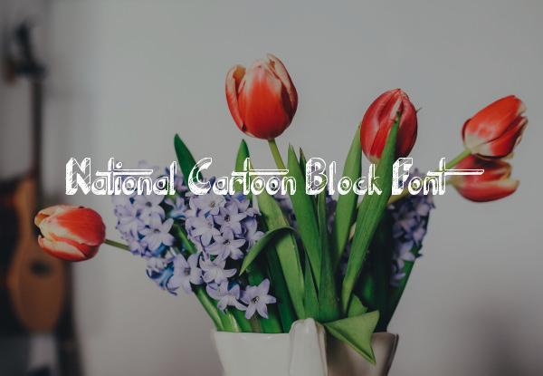 National Cartoon Block Font