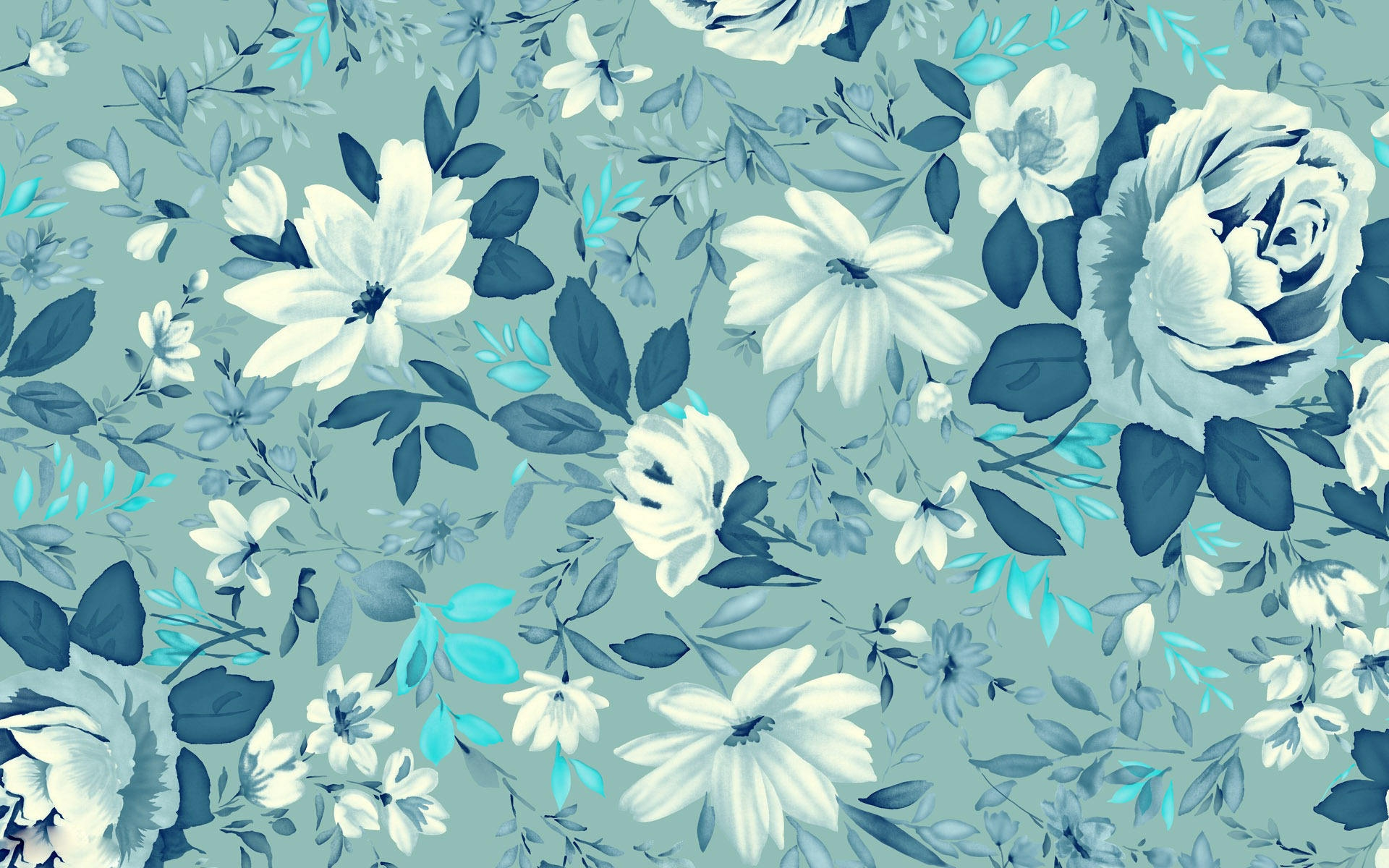 Nature Beautiful Blue Floral Wallpaper