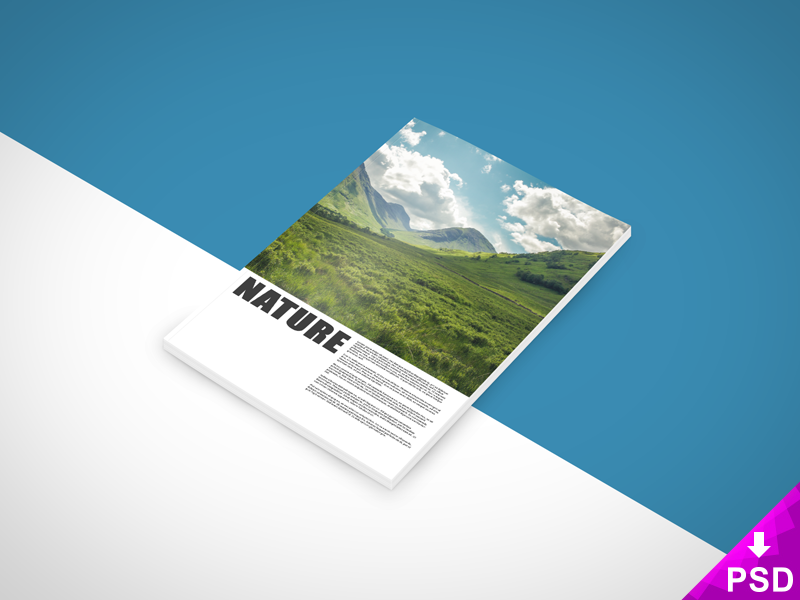 Nature Book Magazine Mock-up