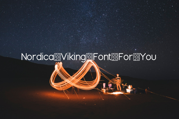 Nordica Viking Font For You