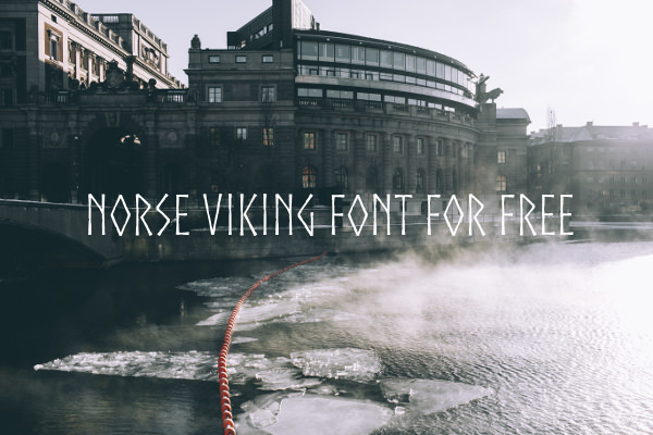 Norse Viking Font For Free