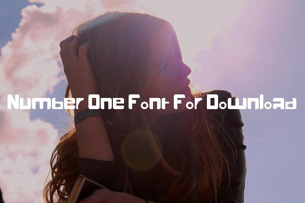 Number One Font For Download