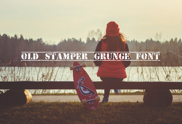 Old Stamper Grunge Font For Download