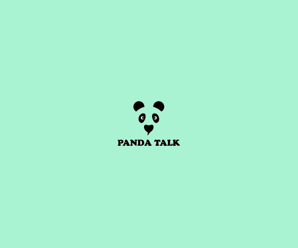 Panda Talk Logo Design For Free