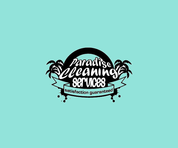 Paradise Cleaning Service Logo For Free