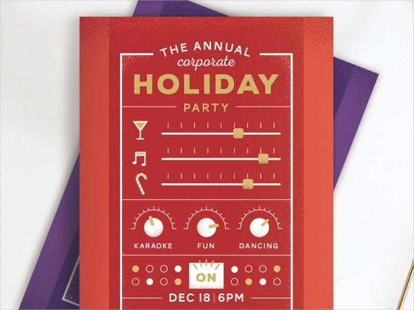 Party Switchboard Holiday Invitaion Card