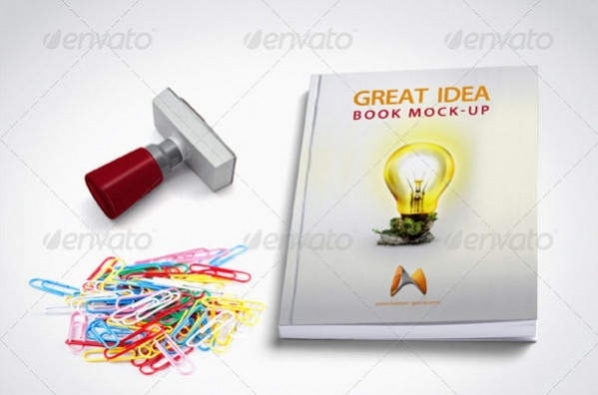 Photo Realistic Book Cover Mock-Up
