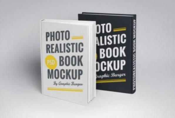 Photorealistic Hard Book Cover PSD Mockup 22