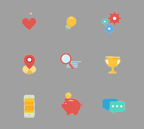 Photorealistic free Animated icons