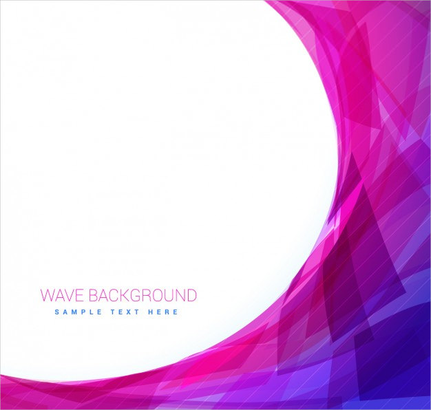 Pink & Blue Background with Wave Free Vector