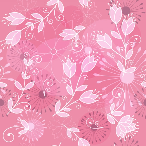 Seamless pink floral pattern - photo#29