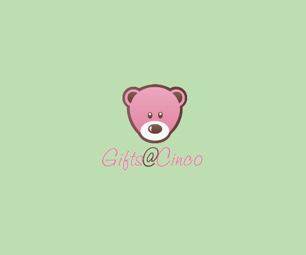 Pink Teddy Bear Logo Design For Free