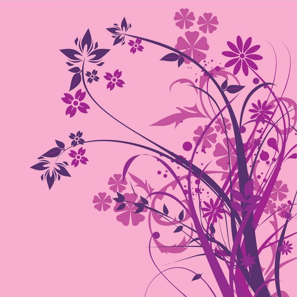 Pink and Purple Floral Wallpaper