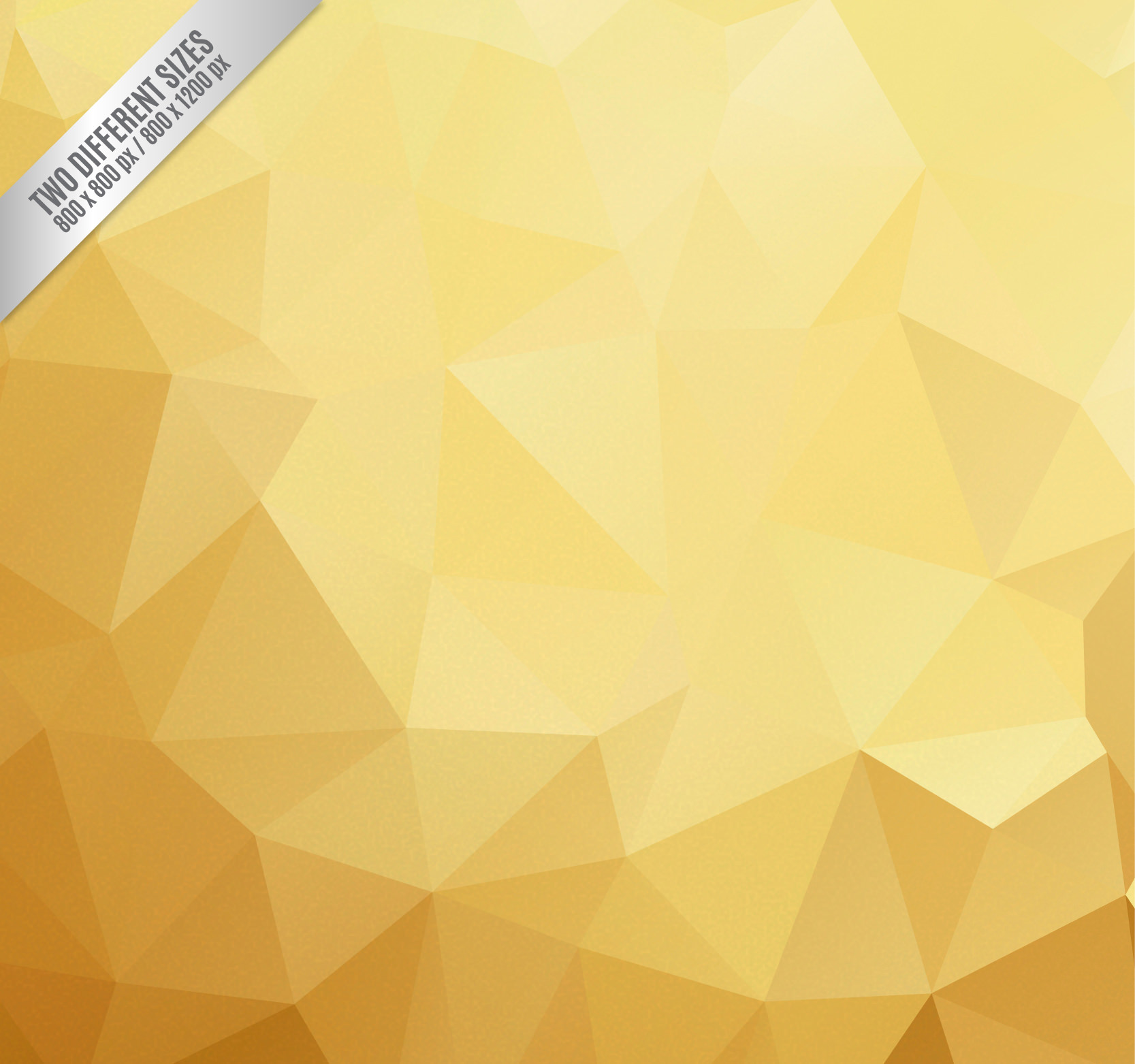 Polygon Background in Gold Tone