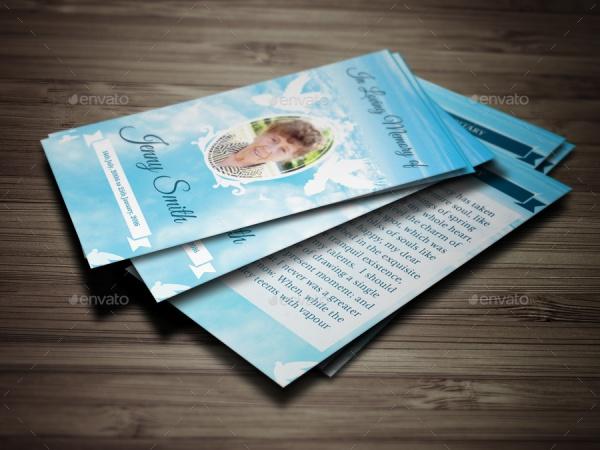 Premium Printable Funeral Card