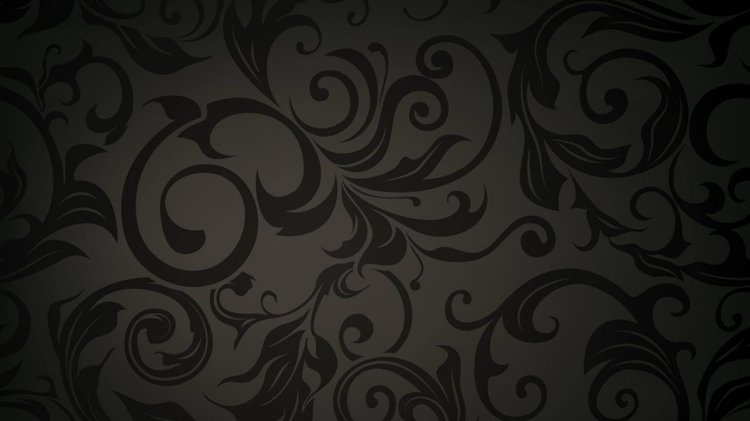 Pretty Dark Floral Pattern Wallpaper for Illustrator