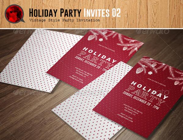 printable holiday party invitation