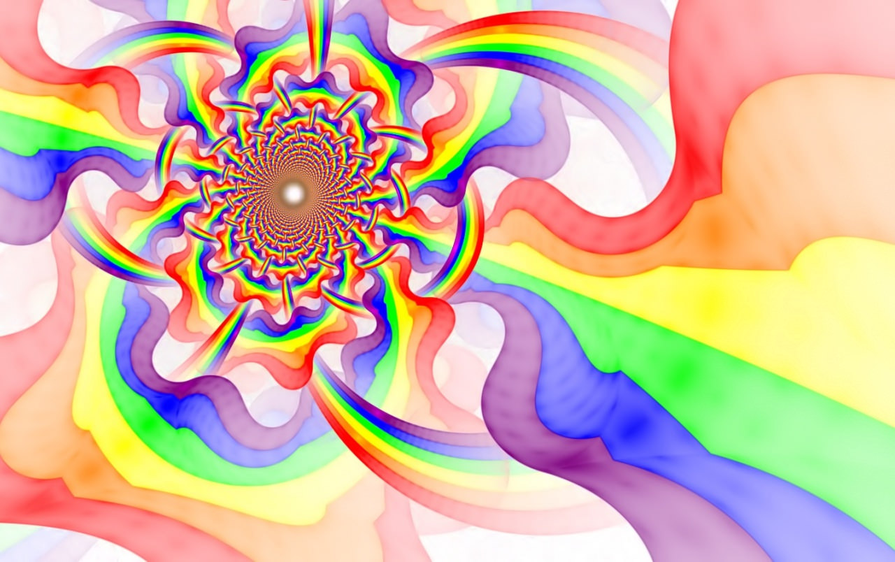 Psychedelic Fractal Rainbow Pattern