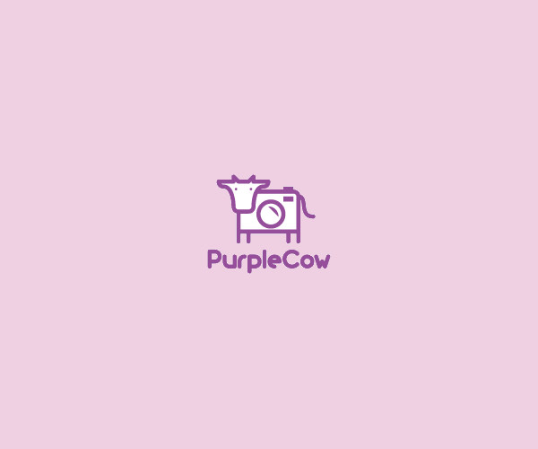 Purple Cow Logo Design For Free