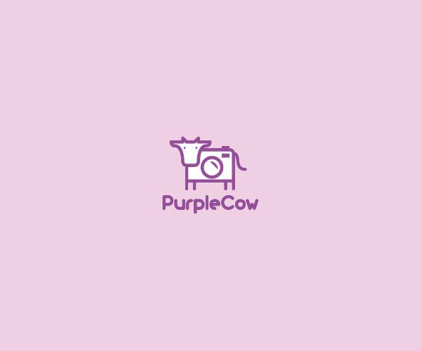 Purple Cow Logo Design For Free