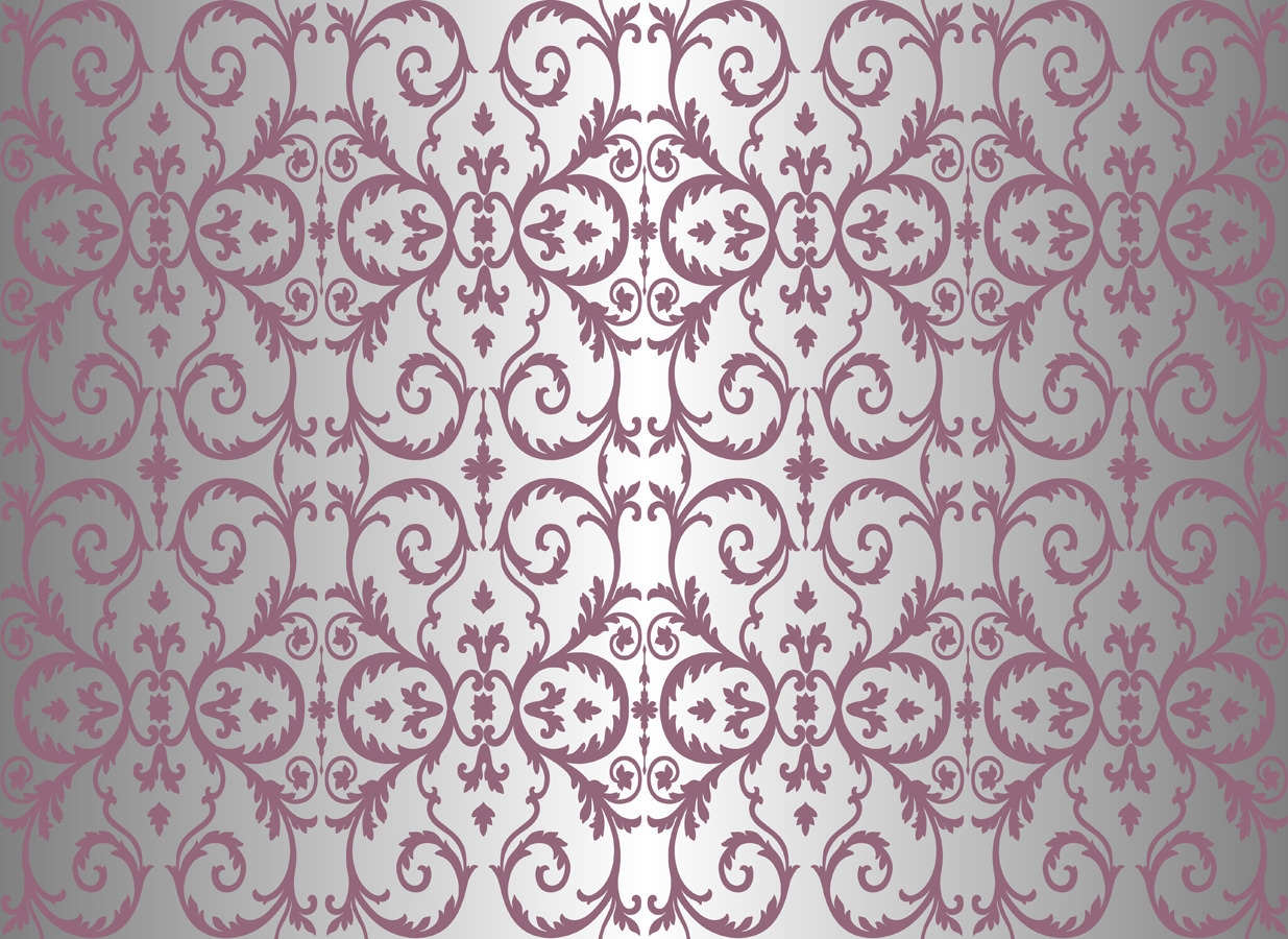 Purple Floral Ornament Pattern Background