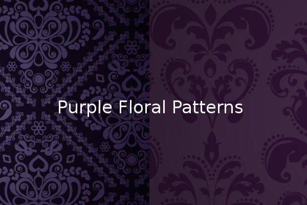 Purple Floral Patterns