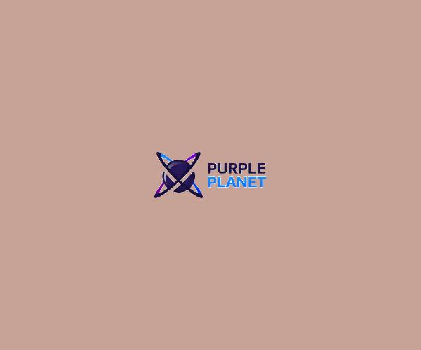 Purple Planet Logo Design For Free