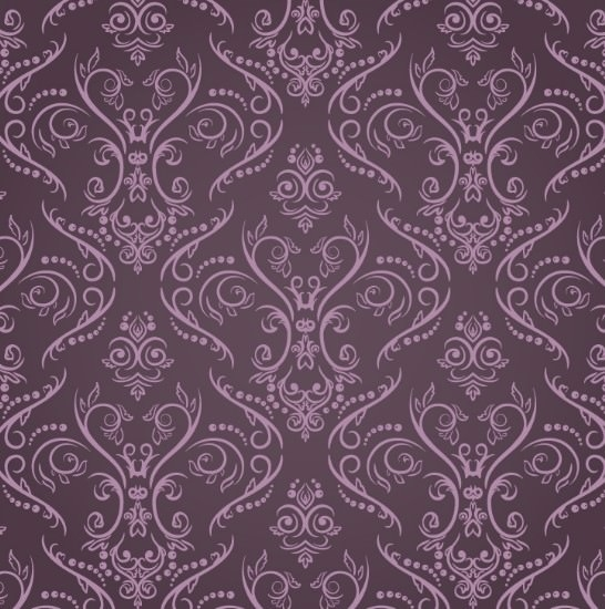 Purple Vintage Floral Pattern