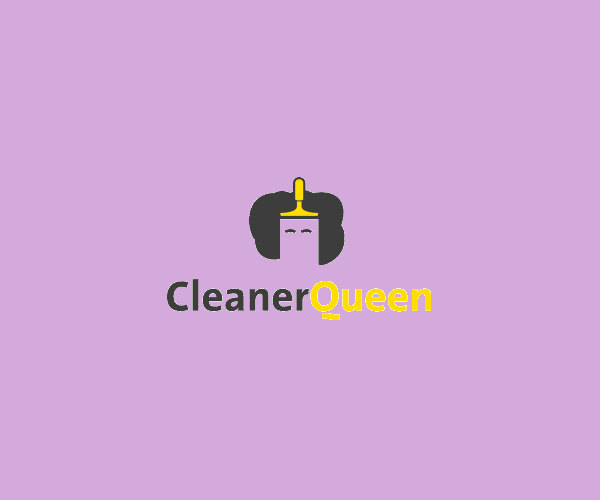 Queen Cleaning Service Logo For Free