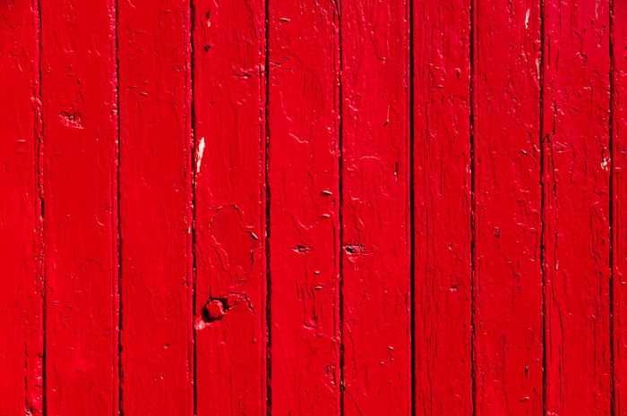 Red Painted Wooden Door Texture