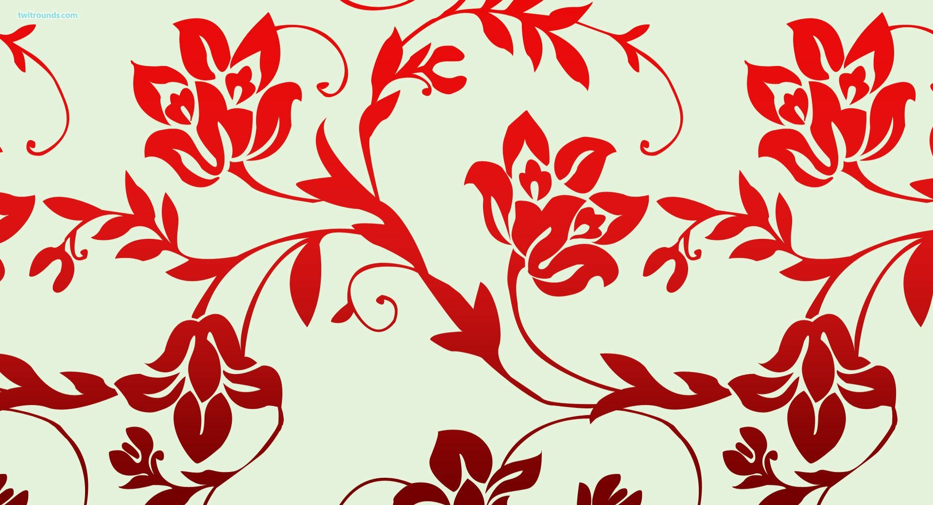 15 red floral wallpapers floral patterns freecreatives - Red flower desktop wallpaper ...
