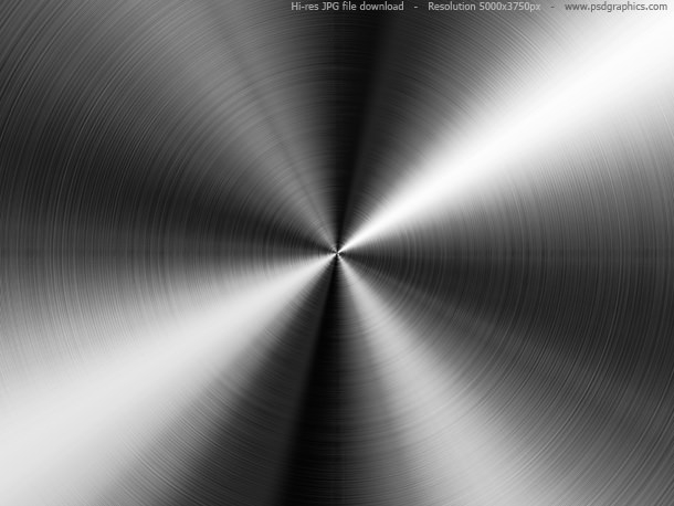 Radial Stainless Steel Background Texture