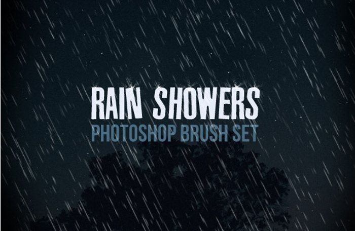 Rain Shower Photoshop Brush Set