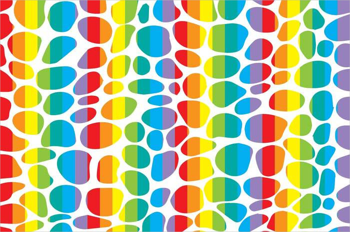 Rainbow Leopard Pattern Vector For Free