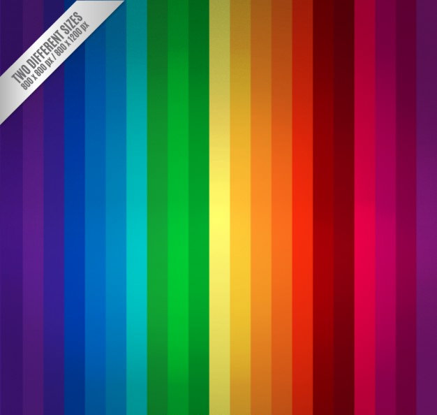 Rainbow Stripes Pattern Free Vector
