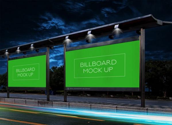 Realistic Billboard Mockup PSD