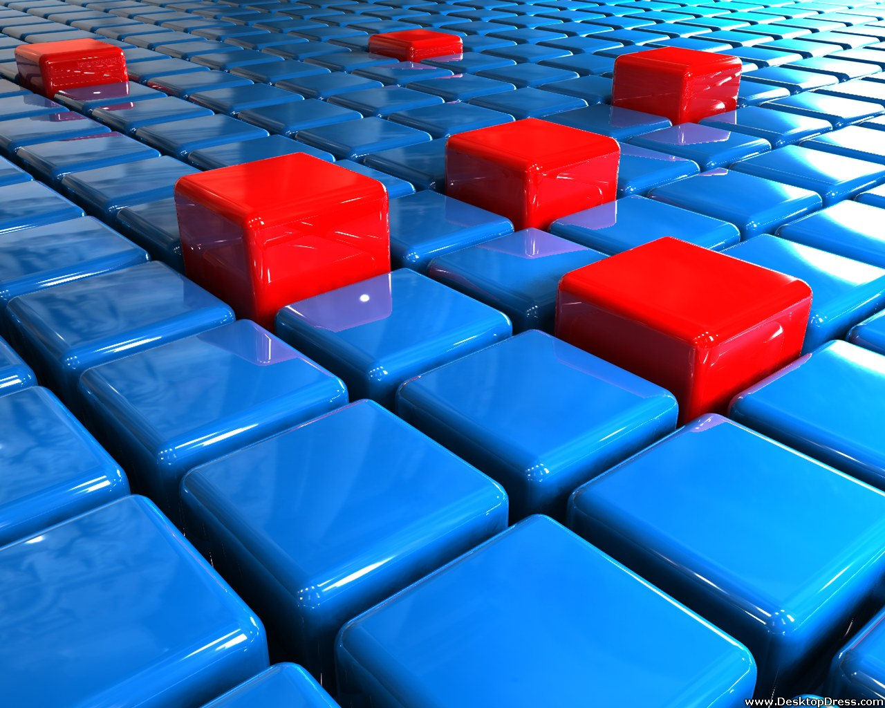 Red & Blue Cubes Background