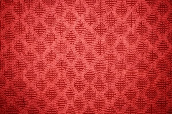 Red Dish Towel with Diamond Pattern Texture