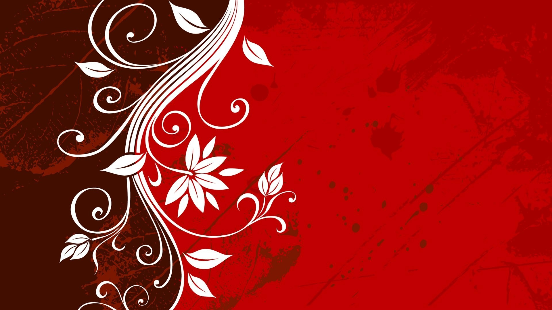 Red Floral HD Wallpaper