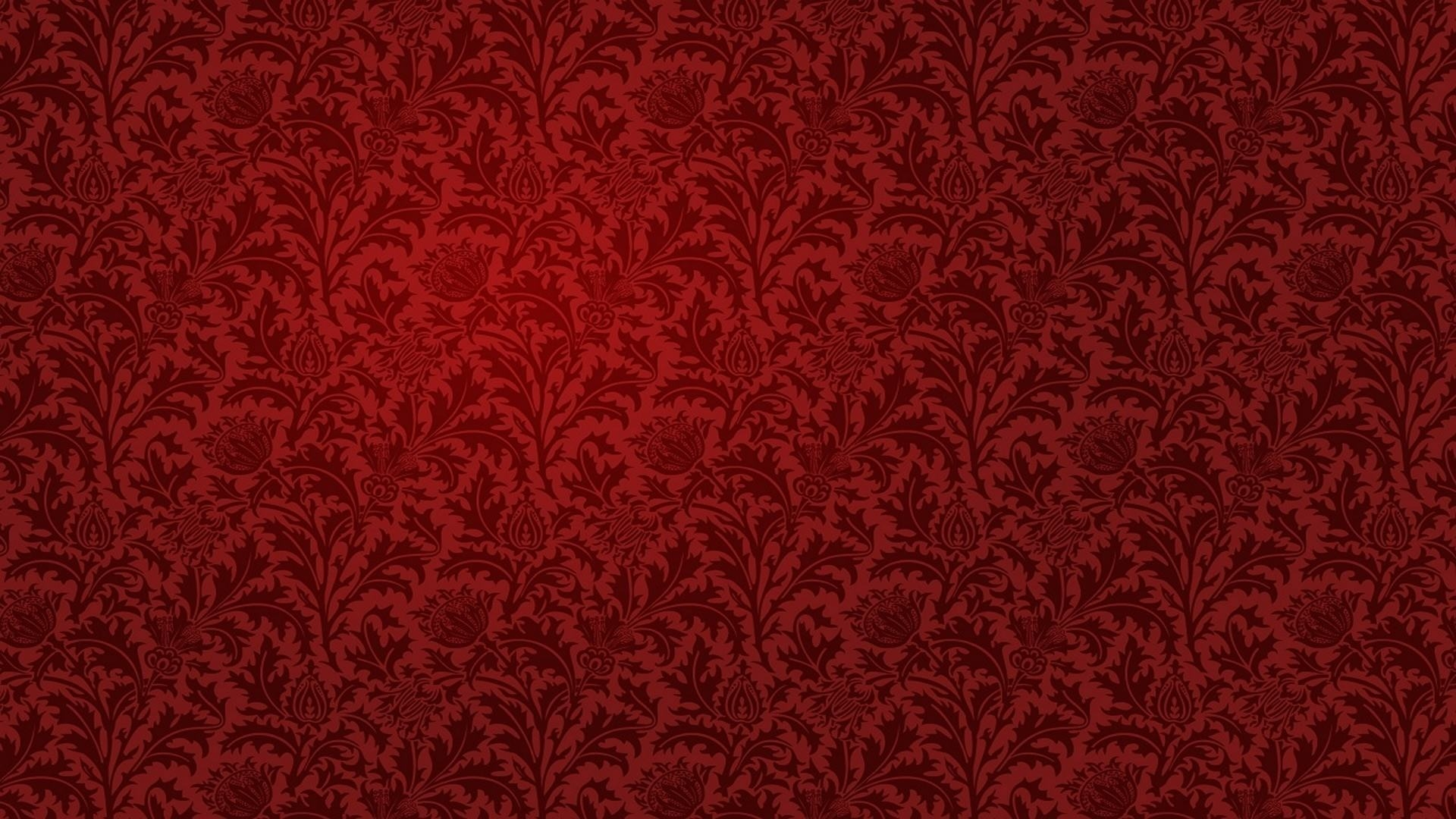 15 red floral wallpapers floral patterns freecreatives for Wallpaper pattern
