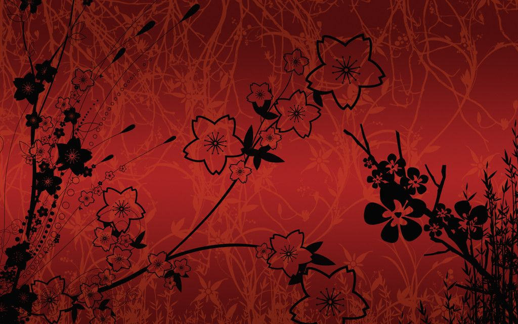 Red Flower Background Free For You