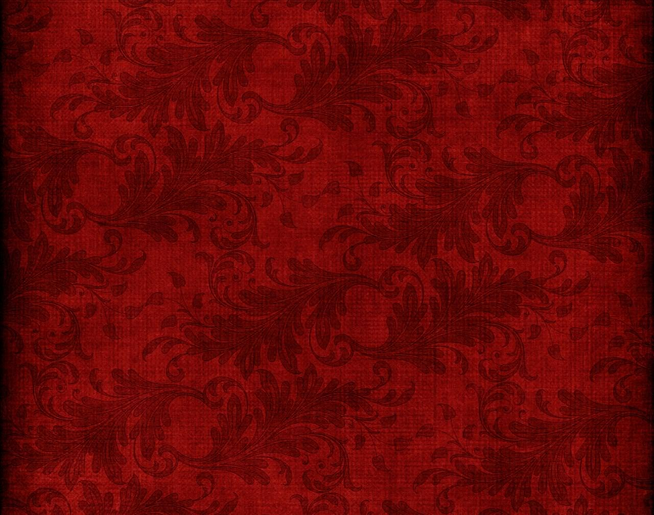 Red Leaves Pattern Wallpaper