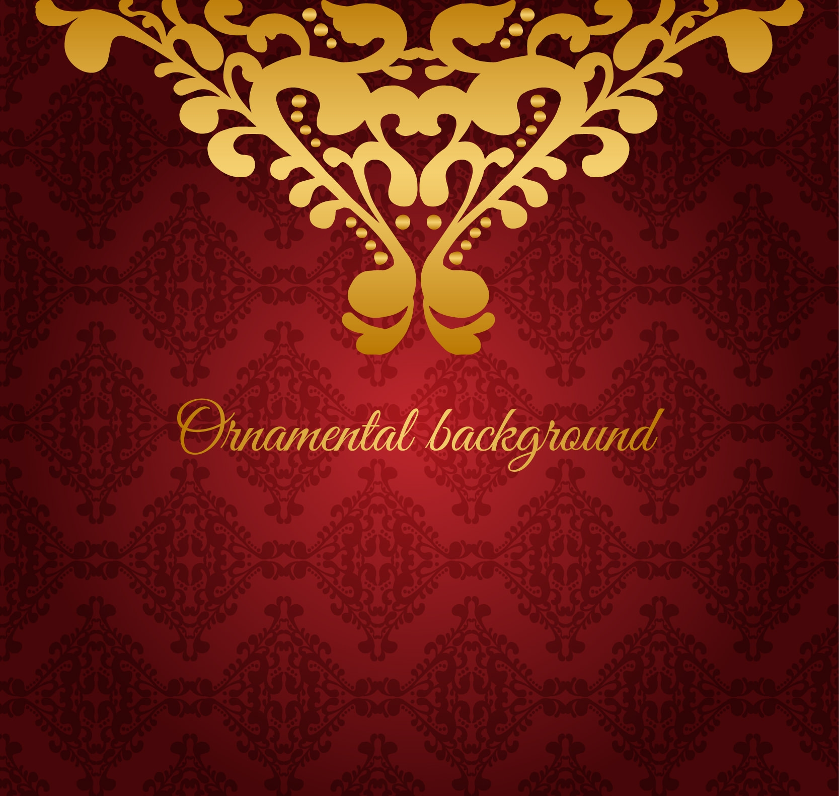 Red Ornamental Background