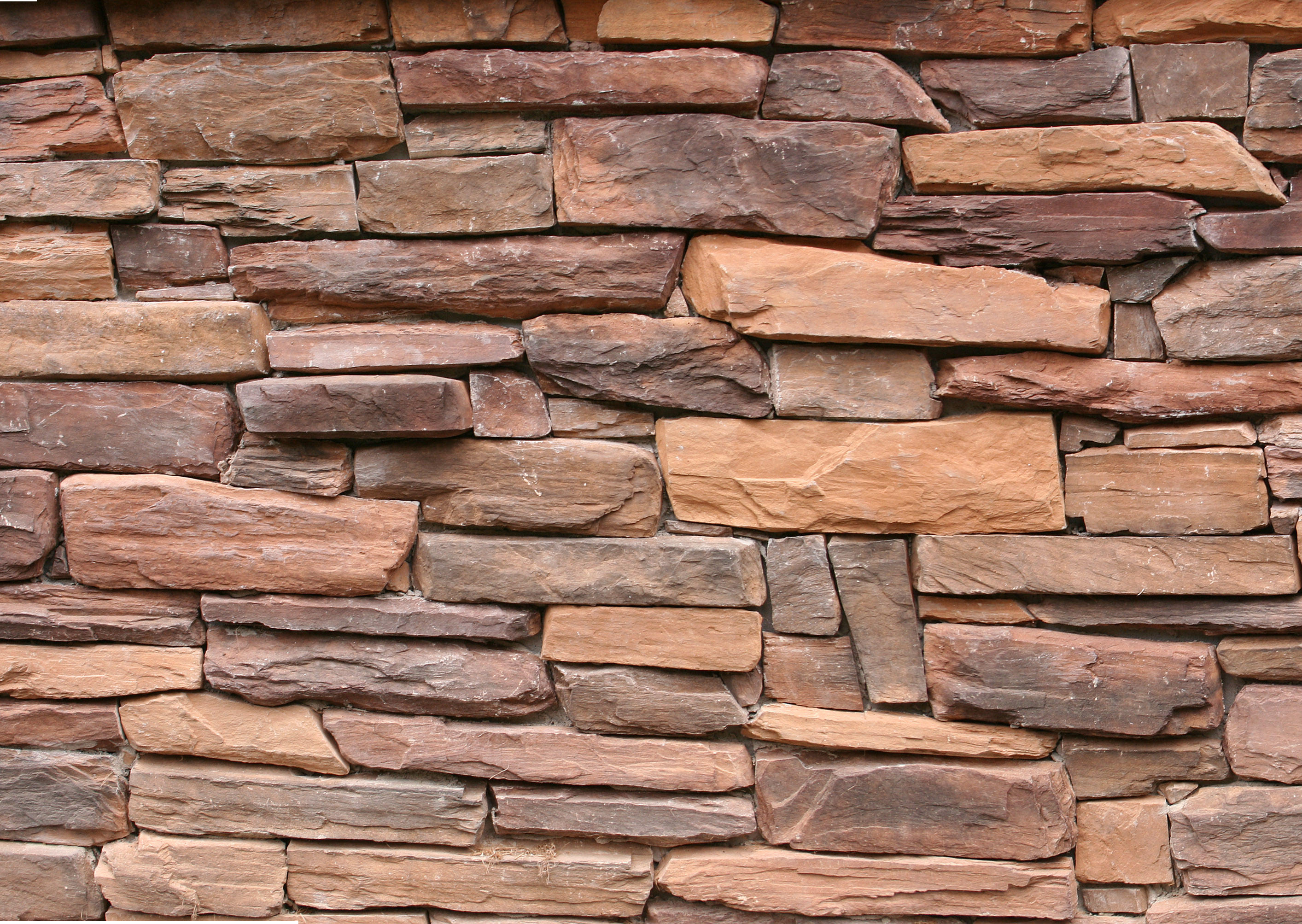 Red Rock Slab Stone Wall Texture