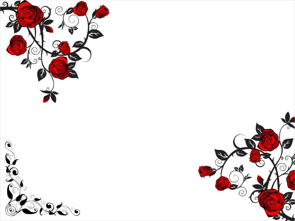 Red Rose Flower PPT Background